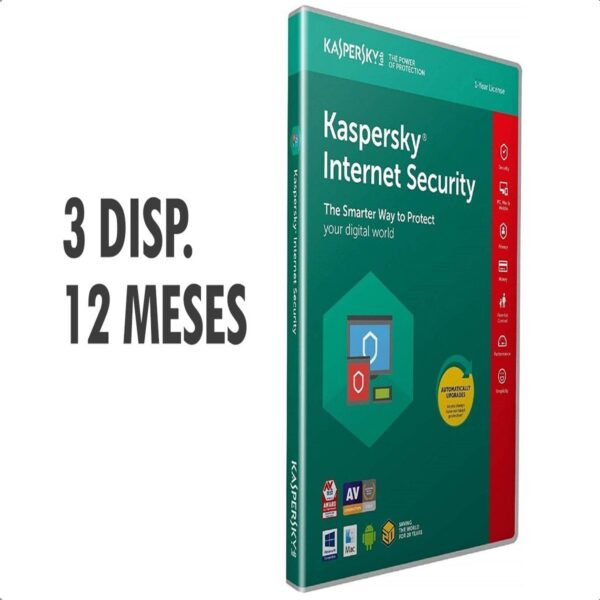 Kaspersky Internet Security 2020 (3 dispositivo - 1 año)