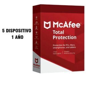 Mcafee Total Protection 2020 (5 dispositivo - 1 año)