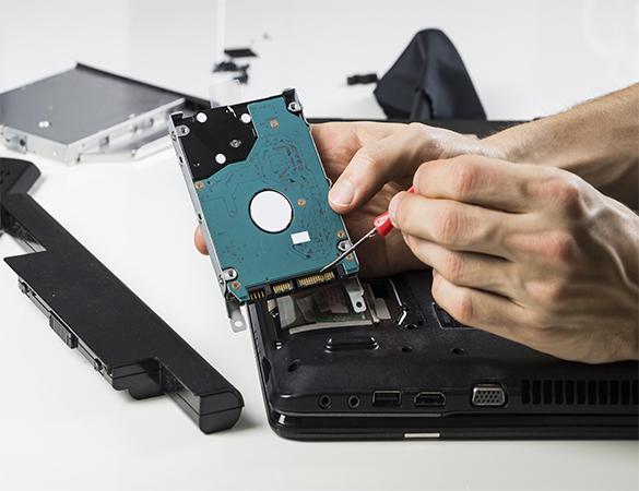 Reparación y reemplazo de discos duros
