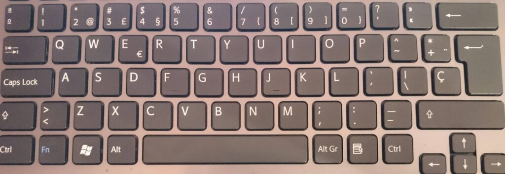 teclado portatil packard bell